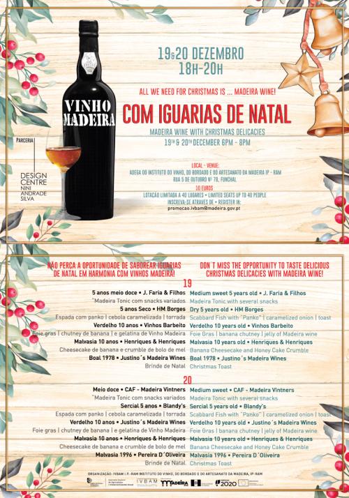 Vinho Madeira e Iguarias de Natal, 19 e 20 de Dezembro